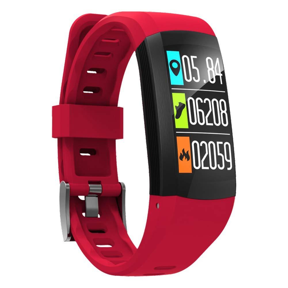 OOLIFENG Fitness Tracker, GPS Localisateur Bracelet Intelligent Cardiofré quencemè tre avec Bluetooth Podomè tre pour Android iOS GPS Localisateur Bracelet Intelligent Cardiofréquencemètre avec Bluetooth Podomètre pour Android iOS Blac