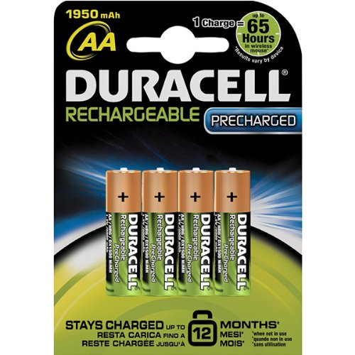 Duracell AA4 Rechargeable Battery 1950 mAh 4 Count by Duracell