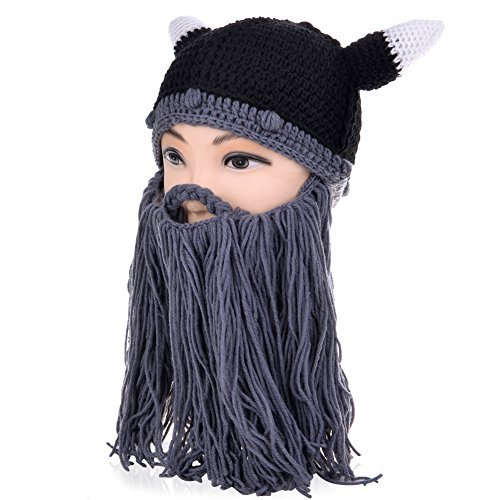 Vbiger Windproof Warm Knitted Beanie Hat Cap