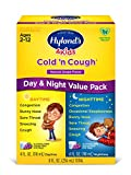 Kids Cold and Cough Day and Night Value Pack by Hyland's 4Kids, Grape Flavored Natural Common Cold Symptom Relief, 8 Fl Oz (Packaging May Vary)