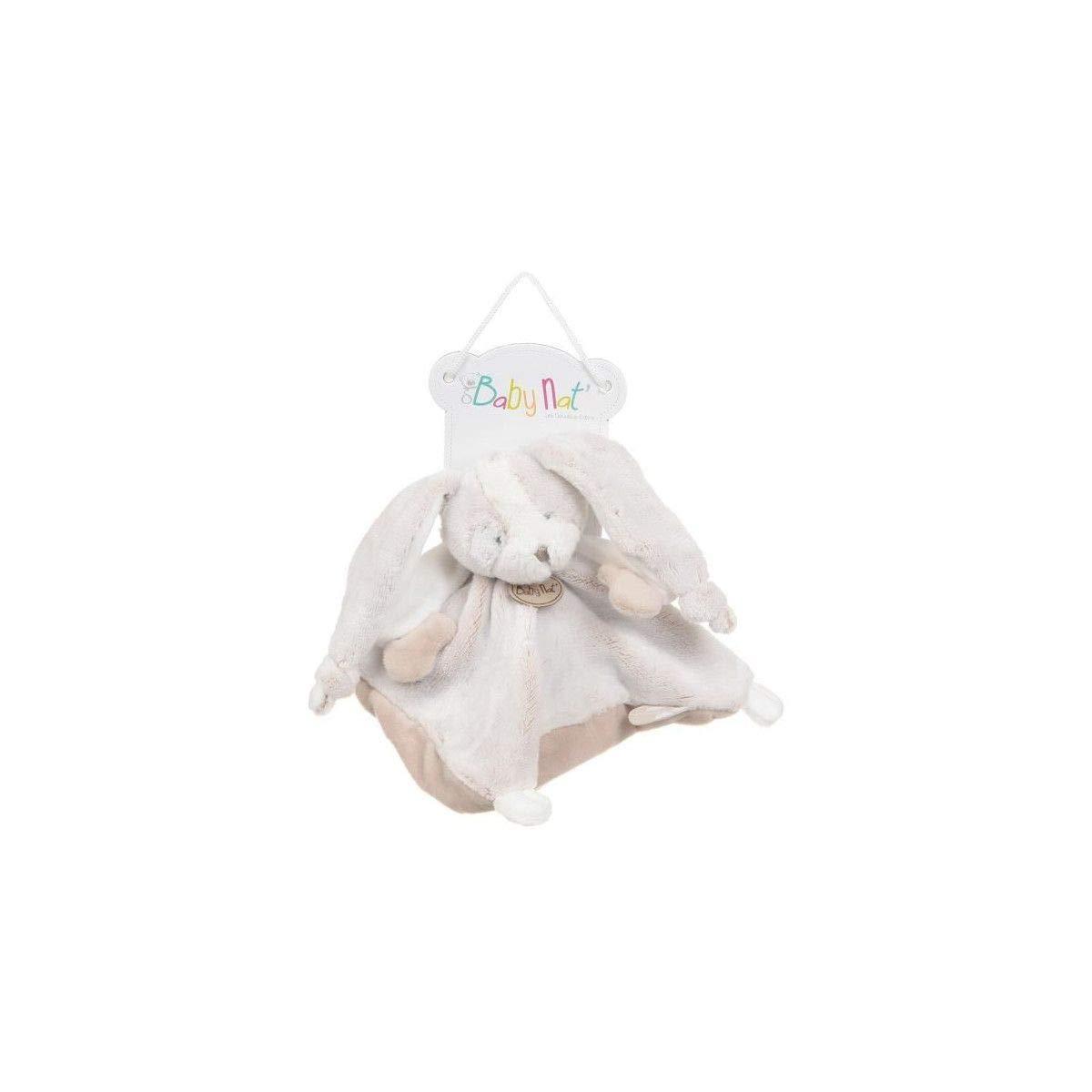 Babynat Baby'Nat Doudou lapin Les Toudoux Plat Gris BN0279