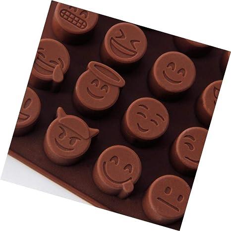 Wanbor Emoji Molde de Silicona para Chocolate, Dulces, azúcar, moldes de Silicona,