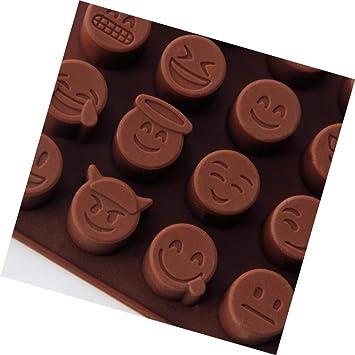 Wanbor Emoji Molde de Silicona para Chocolate, Dulces, azúcar, moldes de Silicona, Divertido Emoji: Amazon.es: Hogar