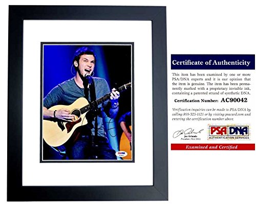 - Phillip Phillips Autographed Signed American Idol Signer 8x10 Photo with PSA/DNA Authentic Black Custom Frame - American Idol Winner