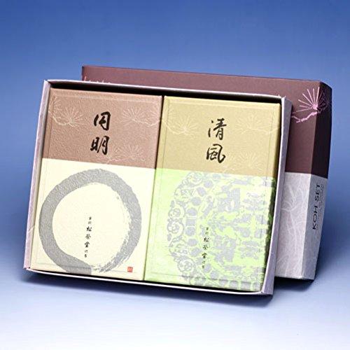 京線香 清風(せいふう)と円明(えんめい)バラ詰2個セット B01HM409ZC