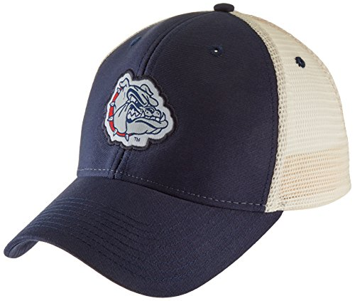Ouray Sportswear NCAA Gonzaga Bulldogs Soft Mesh Sideline Cap, Adjustable Size, Navy/Natural (Baseball Cap Sideline)