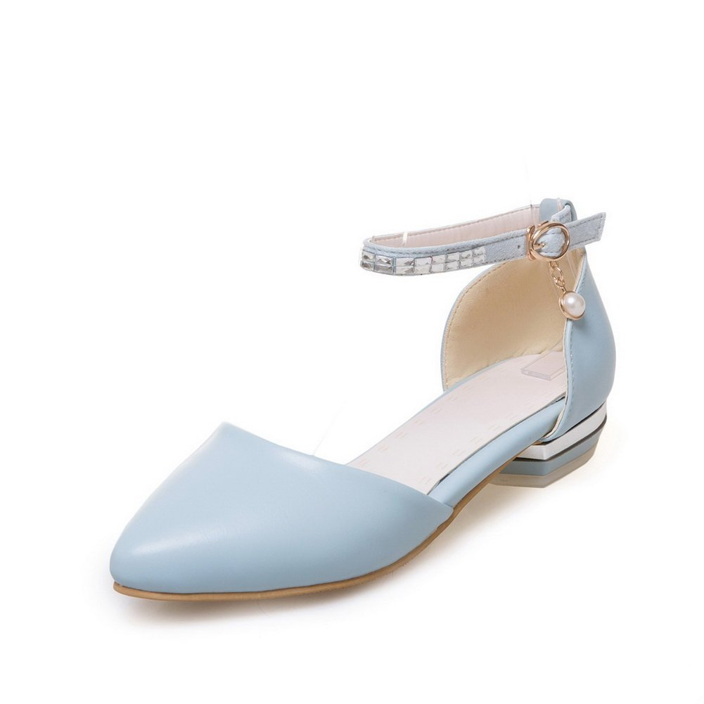 AdeeSu SLC04269 - Sandalias con cuña Mujer 36 EU|Azul