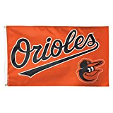 MLB Baltimore Orioles Name and Logo Deluxe Flag, 3 x 5', Multicolor