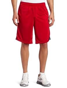 Reebok Men's Dazzle S11/Gravel Workout Short, Excellent Red, Small