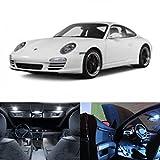 LED White Lights Interior Package Kit For Porsche 911 996 1997-2004 (10 pcs)