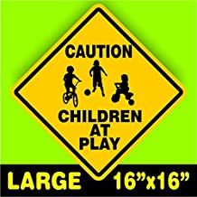 CAUTION WATCH FOR CHILDREN SIGN signs slow playing at play safety SLOW