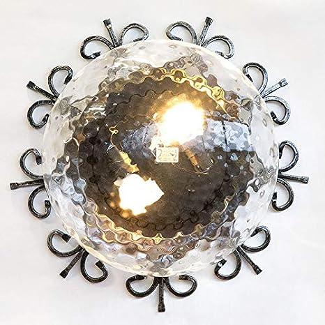 Lámpara de techo de hierro forjado para exterior jardín ...