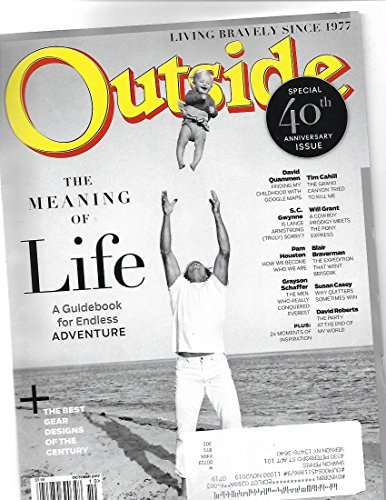 Outside magazine October 2017 {postal label on cover}{meaning Of Life Edition}