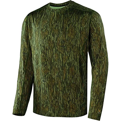 (Terramar Men's Stalker Long Sleeve Crew Mossy Oak Bottomland)