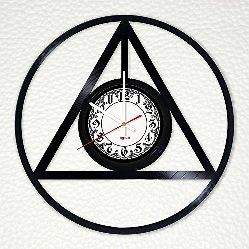 Magic Logo Handmade Vinyl Record Wall Clock - Get unique living room wall decor - Gift ideas for children, kids, teens – Fantasy Movie Unique Art Design
