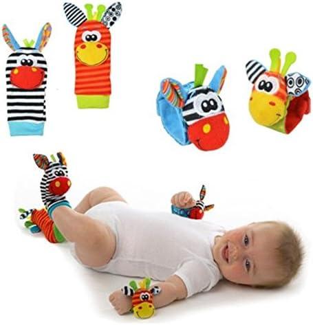 con Juguetes Kentop Calcetines y Mu/ñeca para Beb/é Adecuado para beb/é 0-6 Meses Sonajeros incorporados