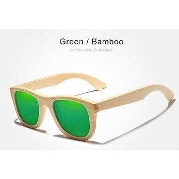 CAGSQ Gafas De Sol Gafas De Sol Hechas A Mano De Bambú para ...