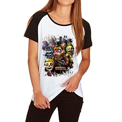 Jeu Cartoon Raglan T-Shirts Femmes Bloc de Couleur  Manches Courtes T-Shirts Caf