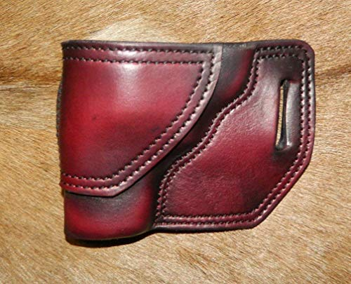 Gary C's Leather OWB Avenger LH Leather Holster for the S&W L Frame 2.5