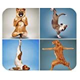 Yoga Dogs Funny Design Personalized Rectangle Mouse Pad