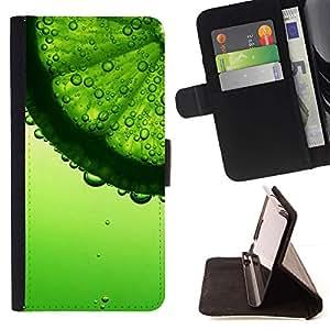 Momo Phone Case / Flip Funda de Cuero Case Cover - Agua refrescante verano Coctail Sun - Samsung Galaxy A5 ( A5000 ) 2014 Version