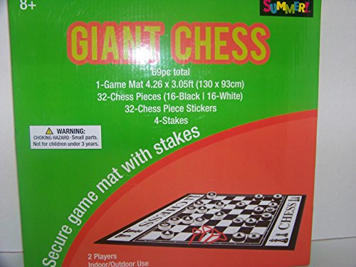Summer Fun Giant Chess Game (4.26 x 3.05Ft)
