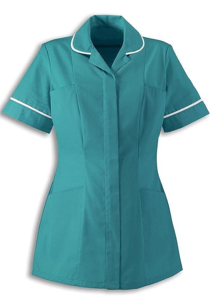 2ebe50049da Alexandra Traditional Ladies Women Nursing Tunics NHS Health Medical Care ( 20, Turquoise/White): Amazon.co.uk: Clothing
