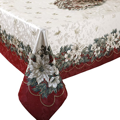 (Benson Mills Christmas Noel Printed Tablecloth, size)