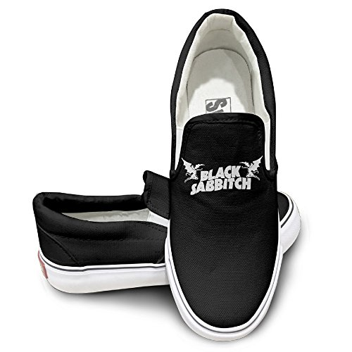 (TAYC Black Sabbath Letters Personality Canvas Shoes Black)