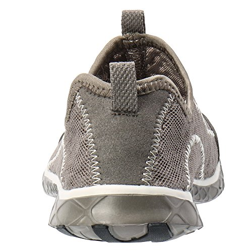 Shoes on Mesh Women's Slip Water ALEADER Overcast Gray fw7XtqfxT