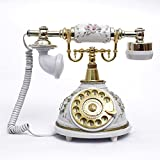 Ryu Antique vintage telephone rotary dial telephone-style white Antique garden creative fashion home landline telephone