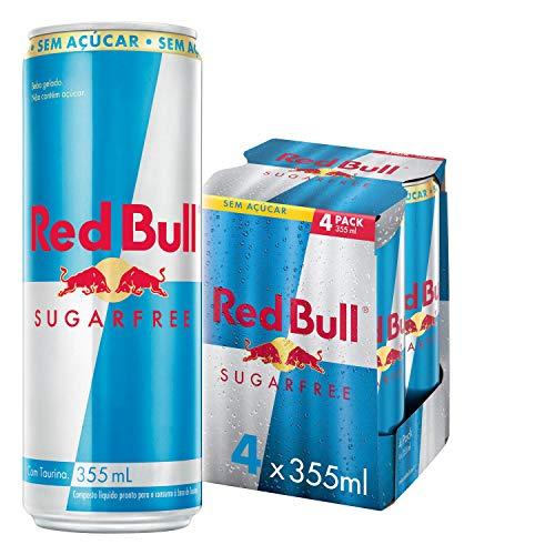 Energético sem Açúcar Red Bull Energy Drink Pack com 4 Latas de 355ml