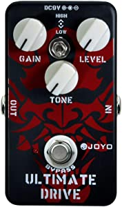 JOYO JF-02 Ultimate Drive Guitar Effects Pedal Overdrive, Simulation Tube AMP Pedal for Electric Guitar Effects, Between Distortion and Overdrive