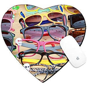 Luxlady Mousepad Heart Shaped Mouse Pads/Mat design IMAGE ID: 25353305 Shop colorful eyewear in the market