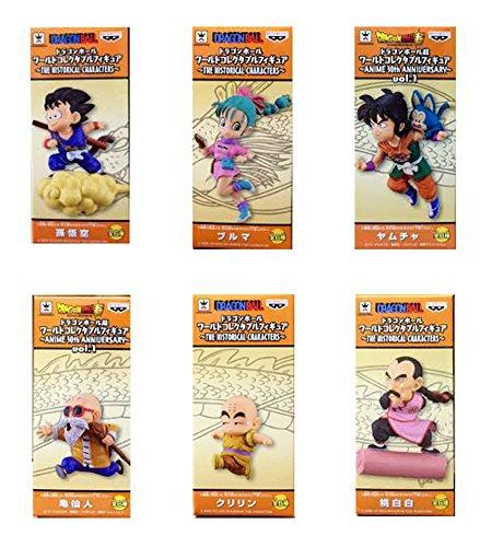 Dragonball Z Collectible character mini figure 6 character set Tao Pai Pai / Muten / Krillen / Goku / Bulma / Yamcha