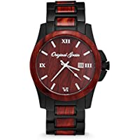 Classic - Rosewood and Matte Black Stainless Steel Men's Watch - Closeout Style