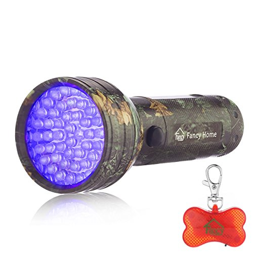Fancy Home 51LED Blacklight Flashlight Pet Urine Stain Detector Scorpion Hunter UV Flashlight with Free Dog LED Collar Light - 9.99 To Usd