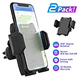 KOMOI Car Phone Mount Holder Cradle, Universal Car Air Vent Mount with Adjustable Compatible with iPhone Xs XS Max XR X 8 8+ 7 7+ SE 6s 6+ 6 5s Samsung Galaxy S10 S9 S8 S7 LG Sony and More (Black)