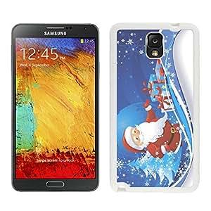 Galaxy Note 3 Case,Snowflakes Christmas Tree Santa Claus Black TPU Note 3 Case-Christmas Series Samsung Note 3 Case