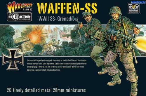 Pack Of 20 Waffen-ss Grenadiers Miniatures