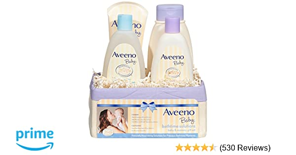 6935160f1ef0 Amazon.com  Aveeno Baby Daily Bathtime Solutions Gift Set to Nourish ...