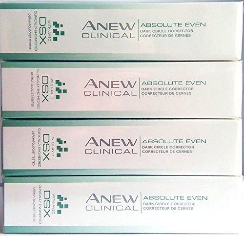 (4 x AVON Anew Clinical Absolute Even Dark Circle Corrector With DSX 15ml - 0.5 fl.oz. SET !)
