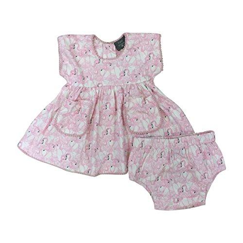 Quinn Zip (Kate Quinn Organics Baby Girls Pocket Tunic with Bloomers, 18-24M (Flamingos))