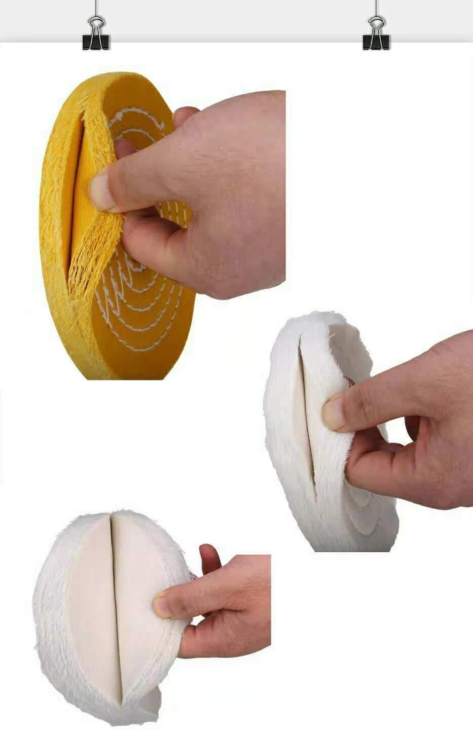 6 inch Buffing Polishing wheel 1/2 Inch Arbor Hole for Bench Grinder Buffer Tool Coarse Medium Soft 3pcs
