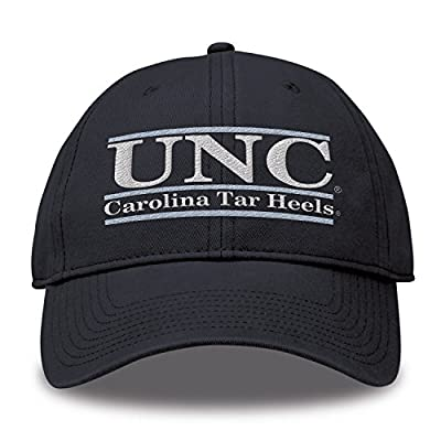 The Game NCAA North Carolina Tar Heels Bar Design Classic Relaxed Twil Hat, Navy, Adjustable by MV CORP. INC