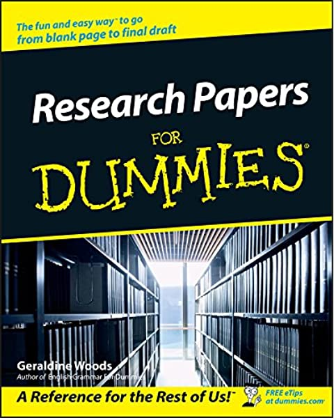 Amazon Com Research Papers For Dummies 0785555105553 Woods Geraldine Books