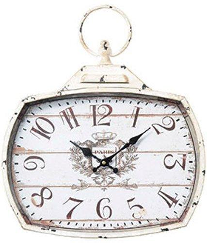 PASEO 時計 アンティークスクエアクロック ホワイト 14-12WH B076X41S4Nホワイト