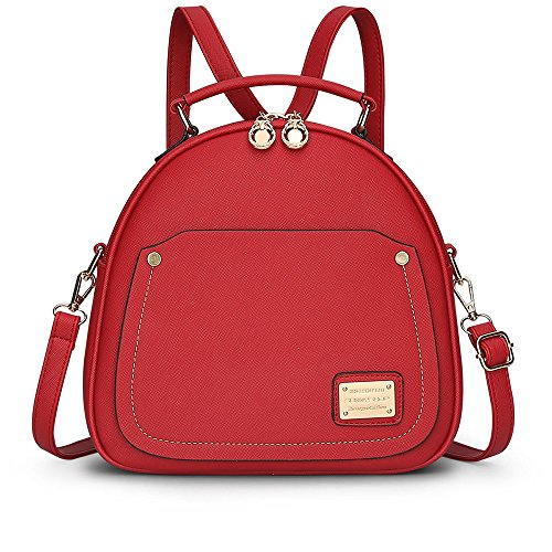 Pu Leather Bags From The Back Of The Female Mini Bag Backpack Bag Small Bag Red Bag Crossbody Backpack Bags Red Bags Backpack