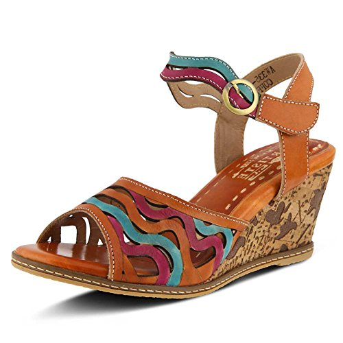 Multi Melania Camel L`Artiste Sandal Womens cngwqw6P