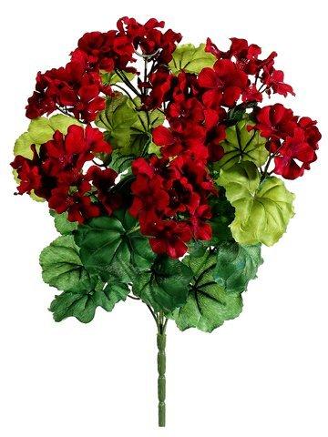 - Silk Plants Direct Geranium Bush (Pack of 12)